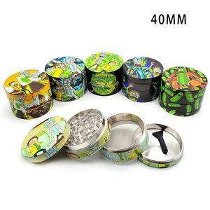 Cheapest Herb Grinder 40 mm Tobacco Grinder Smoking Metal Grinders Dry Herb Vaporizer CNC Teeth Filter FY2145