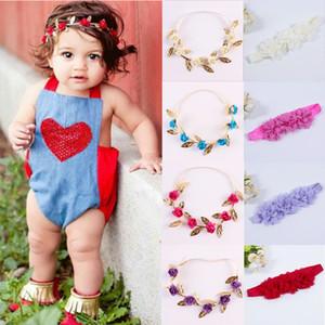 Sevimli Toddle Çocuk Kız Bebek Şapkalar Moda Bow Çiçek Kafa şifon Saç Bandı Aksesuarlar Baş Wrap Bezi Kızlar Saç Bandları
