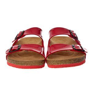 John May Women's Slipper Ba-S902. 002 Pu R. Red Women High ashion Ladies Wedge Cataclou Sandals Spikes Rivets