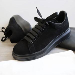 Última zapatos de diseño de la plataforma zapatillas de deporte de lujo de las mujeres Formadores para hombre de cuero de gamuza Plataforma de gran tamaño únicos zapatos 6 colores SZ 4-12 con la caja