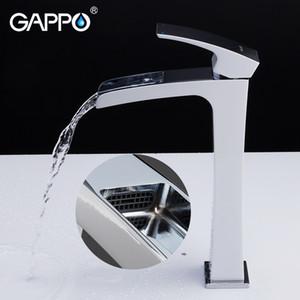 GAPPO Robinets de salle de bains robinet de salle de bains robinet mitigeur de lavabo chromé robinet à cascade robinet mitigeur en laiton torneira