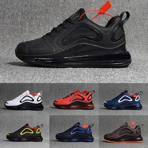 Новое прибытие Mens 720 ОТК Повседневная обувь для мужчин Человек на воздушной подушке Модельер Роскошные Открытый Chaussures Тройной черный Большой размер US 13 EUR 47