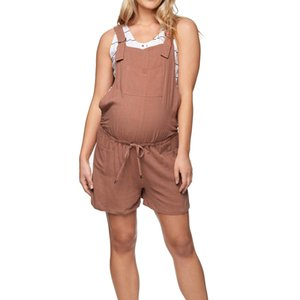 Women's Maternity Cotton Pockets Pregnant Strap Rompers Womens Jumpsuits Casual Pregnancy Pants Sleeveless Trousers Overalls