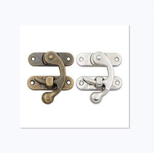 Corner lock cabinet door hook lock box cabinet buckle wooden case hook lock decorative hardware accessories