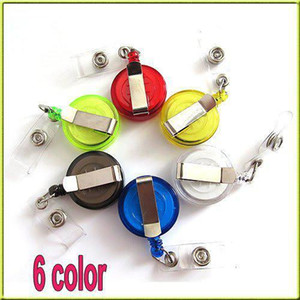 Random Color Retractable Ski Pass ID Card Badge Holder Key Chain Reels With Metal Clip Color Retractable Ski Pass ID