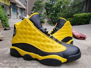 Ucuz Erkekler Atletik Ayakkabı 13 Bumblebee Jumpman Sarı Spor Sneakers Erkek Siyah Beyaz RS-X Kutusu ile 13 S Spor Trainer Driste