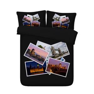 3PCS 3D Bridge Photo Print Duvet Cover Set Bedding with pillowcase, Microfiber Quilt Cover, Zipper Closure, NO Comforter