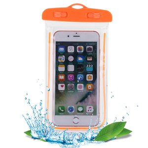 Swimming Bags Waterproof Bag with Luminous Underwater Pouch Phone Case For all models 3.5 inch -6 inch
