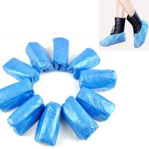 Spedizione gratuita 100 pezzi di plastica impermeabili usa e getta copriscarpe pulizia scarpe Stivali Copriscarpe Copriscarpe protezione Per la casa