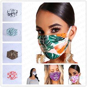 PM2.5 Cotone Unisex Stampa faccia mascherina protettiva antipolvere antipolvere Maschera traspirante Nebbia Prevenzione Haze saliva della bocca-muffola copertina D42407