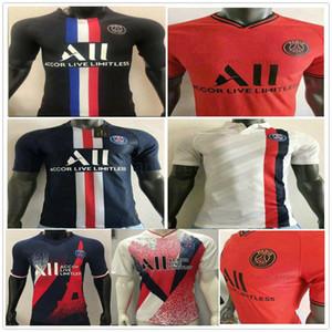 Player Version 2020 2021 Paris Germain Soccer Jerseys 7 MBAPPE 18 ICARDI VERRATTI CAVANI DI MARIA Custom 20 21 Home Away Football Uniform