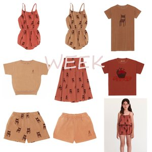 Pre-sale BoBomoon-WEEK 2020 SUMMER Girls T-shirt Outfits Toddler Girl Clothes First Christmas Boy Clothes Girls Beach Kids Sets CX200628