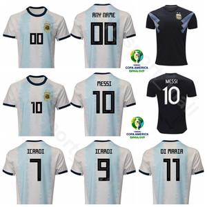 2019 Copa América Fútbol Argentina Jersey Local Visitante 10 MESSI 11 DI MARIA 9 AGUERO 22 MARTINEZ 17 OTAMENDI Kits de camiseta de fútbol Uniforme