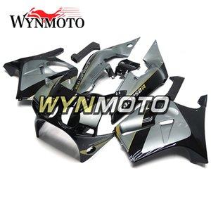 Injeção de motocicleta Full Stands para Honda CBR250RR MC19 ano 1988 1989 CBR 250RR 88 89 ABS plástico carroçaria Gloss prata Black Cowlings
