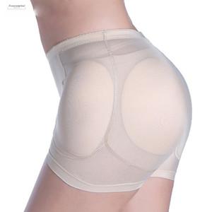 섹시한 쉐이퍼 여성 4PCS 패드 이동식 가짜 엉덩이 엉덩이 엉덩이 리프터 제어 팬티 증강 패딩 슬리밍 속옷