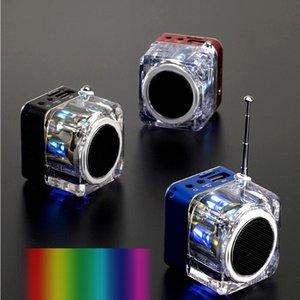 NiZHi TT028 TT029 스테레오 스피커 미니 LED 디스플레이 서라운드 사운드 박스 크리스탈 FM 알람 시계와 음악 플레이어 TF SD 슬롯 USB VS TDV26