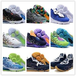 2020 What The Lebrond 17 XVII EP Джеймс LBJ17 обувь Мужская Юноши Черный Фиолетовый Зеленый баскетбол высокого качества Джеймс 17S Спортивные кроссовки