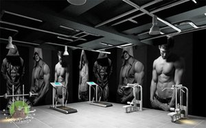 Mural 3D wallpaper People Sports Gym Shop Paisaje Fondos de pantalla de fotos para Papel De Parede Wall Paper Wall Art Decor