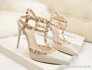 Femmes Chaussures Mary Jane dames Hauts talons 10 Bas Chaussures de mariage rouge talon épais Escarpins Lady Noir Rose Beige