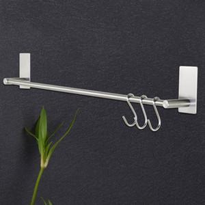 Einzel Rod Handtuchhalter Edelstahl-Badezimmer Handtuchhalter Schlags Gratis Bad Hardware-Zubehör Bar 40Cm