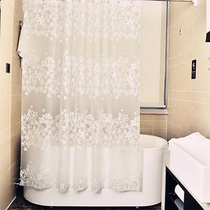 우아한 꽃 패턴 샤워 커튼 문 커튼 PEVA 환경 곰팡이 방수 욕조 두께 샤워 커튼