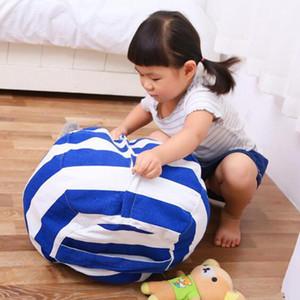 16 / 24inch Crianças Armazenamento sacos de feijão Plush Toys Beanbag Chair Quarto Stuffed Animal Room Mats portáteis roupa saco de armazenamento 6 cores DBC BH2638
