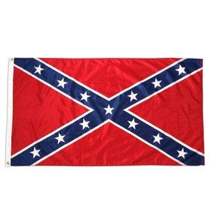 Envio direto Atacado para 90x150 Pronto US CM fábrica 3x5 Confederate War Civil Dixie Flag FT Rebel Battle GD293 GSRib