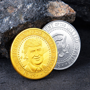 Donald Trump Moneta commemorativa 45 ° Presidente degli Stati slegata Badge Collection Craft metallo accessori per la casa 2020 Election