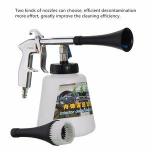ص تنظيف السيارة بندقية سطح غسل الداخلية أداة الأسود الهواء نبض ارتفاع ضغط غسالة الاكسسوارات التنظيف العميق مع فرشاة