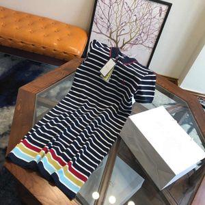 20s New Womens Dresses Fashion Summer Polo Dresses High Quality Womens Shirt Dress Short Sleeve Size 160-175 YF204113