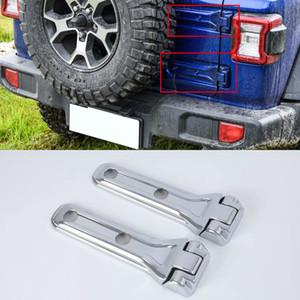 Car Styling 4 UNIDS ABS Cromado Puerta Trasera Cubierta de la Bisagra de la Puerta Trasera Decoración para Jeep Wrangler JL 2018 2019 (No apto para el modelo JK)