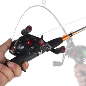 """New Portable 1.65m 1.8 M 2 Tip casting 7"""" M Power 6-12g 5-20g Lure Weight Carbon Casting Spinning Lure Fishing Rod"""