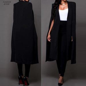 Cappotti allentati Blazer lungo mantello giacca sportiva cappotto del capo del cardigan trincea Outwear cappotti e giacche donne Jul27