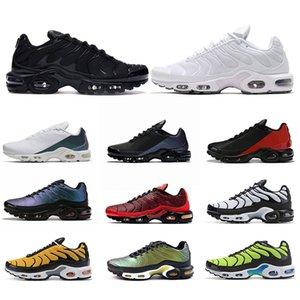 Nike Air Vapormax Tn Plus SE Flyknit  Hommes Femmes Chaussures De Course Triple Noir Blanc Core Oreo CNY Cool Grey Trainer Sport Sneakers Taille 36-47
