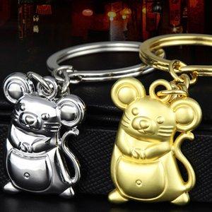 Chunky Rat Mouse Keychain Fashion Trinket Animal Car Keyfob Bag Pendant Key Chain Personalized Keyring for Women Gift