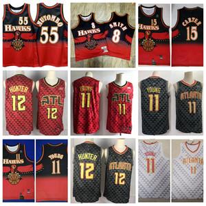 2020 Mens Basketball jerseys MenAtlantaHawks Cheap 11 Young Vince 15 Carter De Andre 12 Hunter Trae Stitched Shirts Size S-XXL