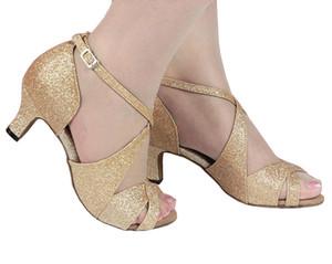 XSG Hot chaussures de danse latine femmes avec les femmes portent des chaussures à talons haut bien flash pour adultes chaussures de danse latine danse sexy salle de bal Place GB