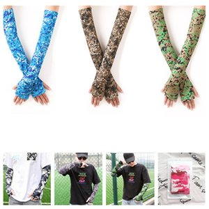 new Camouflage sleeve sunscreen ice sleeve summer outdoor cycling sports fishing arm ice sleeve Protective Sleeves T2I51093