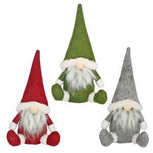 Feliz Natal sueco de Santa Gnome Plush Doll enfeites artesanais Dwarf Elf Toy Casa Party Decor Decorações de Natal JK1910