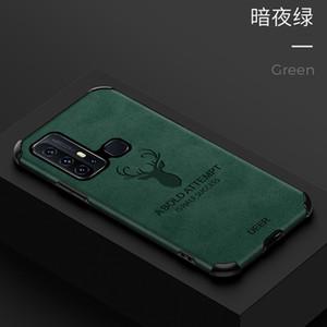 Mobile Phone Case for vivo z6 x30pro IQoo3 IQoo neo TPU+Leather Elk Creative Protective Cover