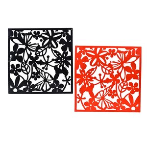 8pcs Chinese Hollow Paper Cutting Style Hanging Screen Room Divider Partition Butterfly Bird Flower Panel