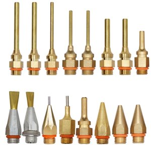 1.5x70mm 1.8x55mm الساخنه نذوب الصمغ بندقية النحاس طويل فوهة كبيرة وصغيرة قطرها 1MM الخرطوم مع مفتاح، 1PCS / لوط