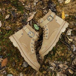 2019 Militar de inicialização do Men High Top Autumn Ocidental Sneaker Mens Chukka Botim Tactical Sapatos Masculinos Segurança Motocycle Botas