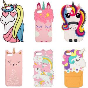 Para iphone 7 dos desenhos animados Caso 3D suave silicone do telefone de borracha animal Kawaii Bump Protector crianças meninas Presentes pele tampa traseira para 6 7 8 11 Pro