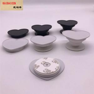 Evrensel Kalp Grooven Cep Telefonu Tutucu Gerçek 3M yapıştırıcı Tutma 360 Derece Parmak Tutucu Esnek iPhone Samsung Standı