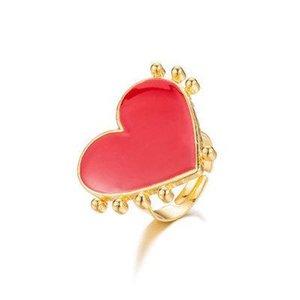 Gold Red Heart Evil Eye Fashion Adjustable Rings for Women Female Popular Cute Evil Eye Love Heart Punk Finger Rings Jewelry Girls Gift