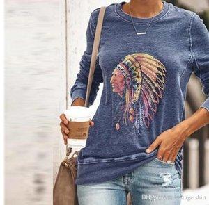 Sleeve Tshirt Moda Tribù Capo stampati Womens africani vestiti primaverili autunno vestiti casuali Designer Womens Long