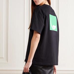 20SS verde de la hoja de Protección Ambiental Impreso camiseta de los hombres de alta moda de la calle de las mujeres de manga corta camisetas respirable del verano HFHLTX119