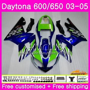 Body For Triumph Daytona 650 600 Daytona600 02 03 04 05 Frame 42HM.15 Daytona650 Daytona 600 650 2002 2003 2004 2005 Fairing Sale Blue Green