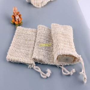 Soap Blister Mesh Double-Layer-Soap Net Schäumen Net Easy Bubble Mesh-Tasche Soap Sack Saver Pouch Drawstring Holder